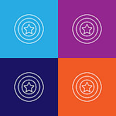 shield usa outline icon. Elements of independence day illustration icon