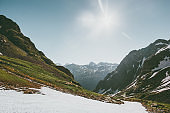 Mountains Landscape summer season travel serene scenic view sunny weather