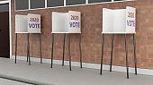 Voting Booths, Vote 2020