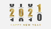Happy New Year 2021 greeting background