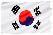 The national flag and ensign of South Korea