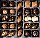 Homemade belgian chocolate. Close-up chocolate. Religious Holiday, The Sugar Feast After Ramadan.