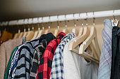 Inside a wardrobe