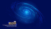 Cosmic vortex, particle building network technology big data background.