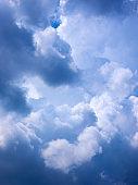 Beautiful blue cloudy sky