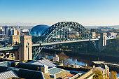 Tyne Bridge on the River Tyne, Newcastle Upon Tyne, England, UK