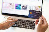 Using Laptop Online Shopping Payment Option Credit Card Successful and Continue Shopping