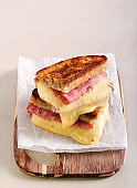 Ham and cheese grilled sandwich