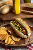 Grilled Hot Dog on a Bun