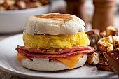 Breakfast Sandwich on an English Muffin