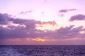 beautiful seascape twilight  sunset serenity coastline background