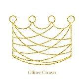 Glitter Crown  Vector