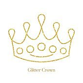 Glitter Crown  Vector