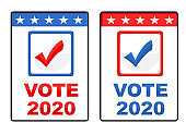 US presidential Voting with different choice Paper Documents for 2020 Election illustration Vector for poster.