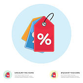 Discount offer tag icon. Shopping coupon percentage symbol.