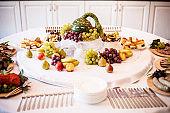 Beautiful wedding reception sweet buffet