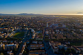 Aerial view of the Pisa city in Italy
