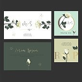 Wedding invitation Design Card.