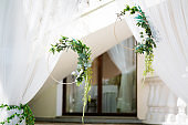 Beautiful place decorated for wedding ceremony
