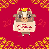 Happy Chinese new year greeting card 2021