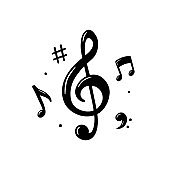 Music note icon. Melody Vector illustration