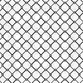 Metal fence pattern, outline style