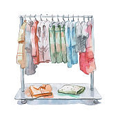 clothes rail with womans collection assortment
