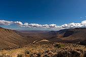 Mountain pass going down into Tankwa Karoo