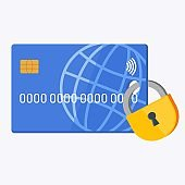 Credit card in the lock. Reliability of cashless transactions a