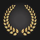 Golden laurel wreath. Luxury reward for VIP person.