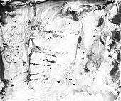 Light Modern Organic Marble, Effect Background . Monochrome Acrylic Mixed Gradient, Fluid Paint Flow, Peach Watercolor . Gray Colored Liquid Splash