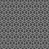 Repetitive Fashion Graphic Poly, Array Texture. Repeat Minimal Vector Technology Repetition Pattern. Continuous Black Hex, Tile