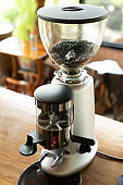 Coffee grinder in the cafe