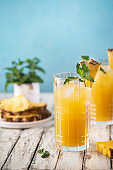 Fresh pineapple cocktail