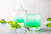 glass of cold mint drink