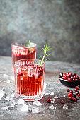 Fresh cranberry cocktail