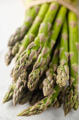 Bunch of fresh green asparagus