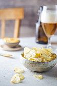 Crunchy delicious potato chips