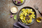 Fried cauliflower with herbs