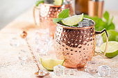 Cold Moscow Mules cocktail