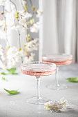 Pink cosmopolitan cocktail