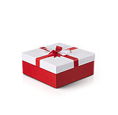 Gift box with white background