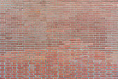 Background wall of old red brick