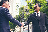 Partner Business Trust Teamwork Partnership. Industry contractor fist bump dealing mission business. Mission team meeting group of People Fist bump Hands together. Business trust teamwork Concept