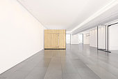 Empty office space interior due to Corona virus pandemic