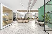 Modern open plan office interior