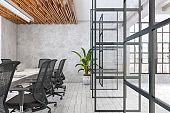 Contemporary office conference room interior