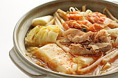 Korean food, kimchi and pork hot pot