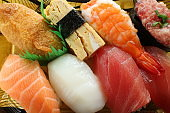Japanese food, assorted sushi in food container