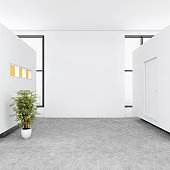 Modern open plan office intrior